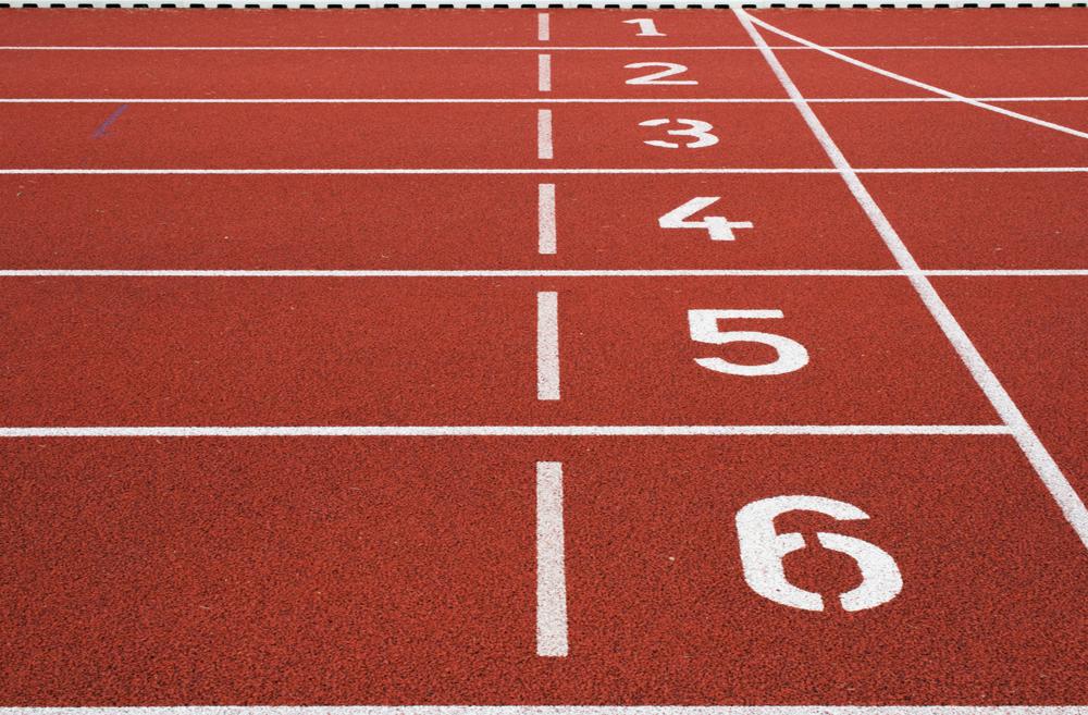 rubber crumb athletics track