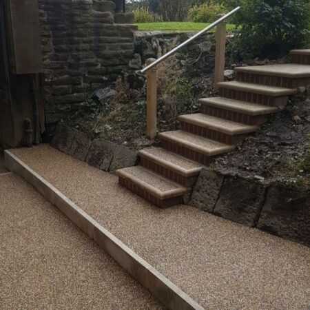 Resin driveways in Manchester - stairs